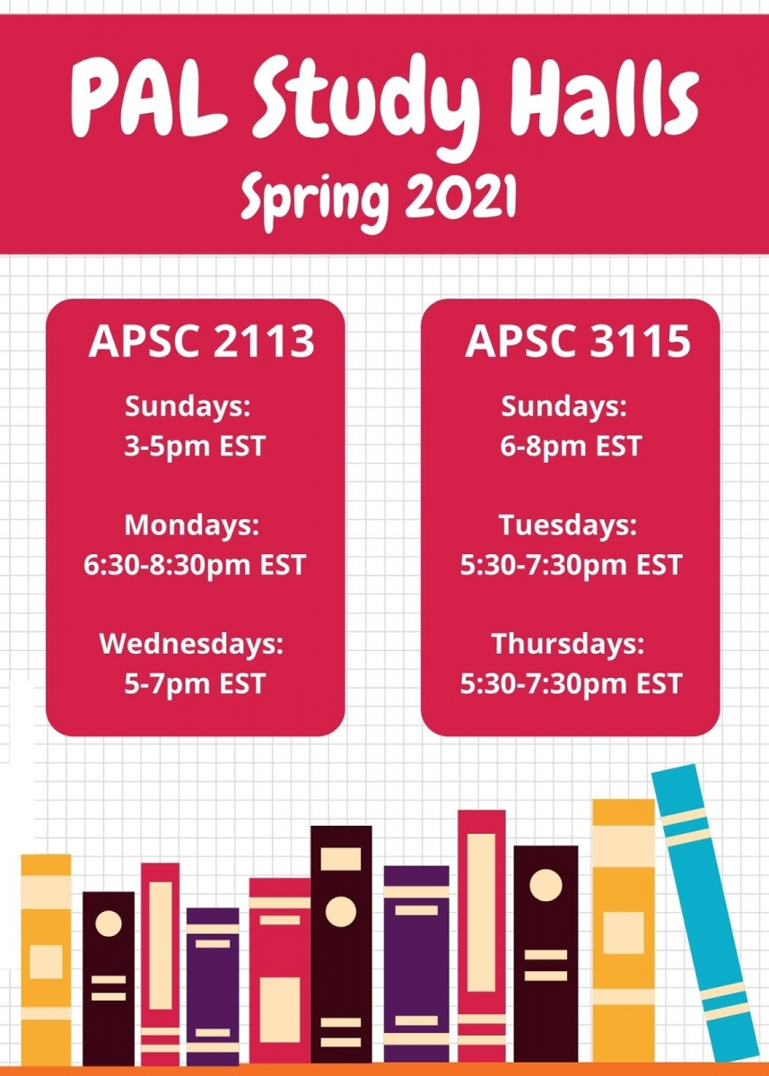 PAL spring 2021 schedule graphic