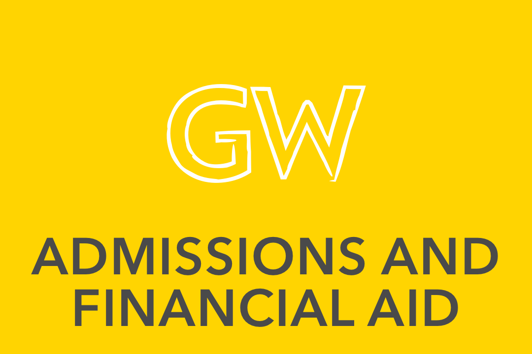 GW pinpoint;  Admissions and Financial Aid