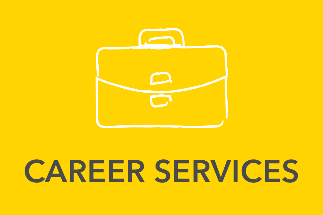 Graphical image of yellow Career Services Icon