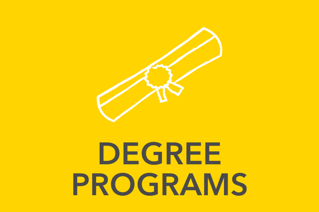 Graphical image of yellow Degree Programs Icon