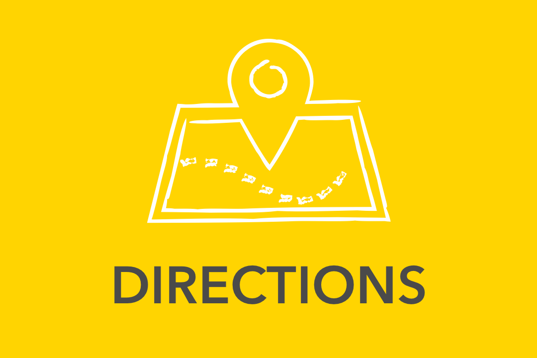 Graphical image of yellow Directions Icon