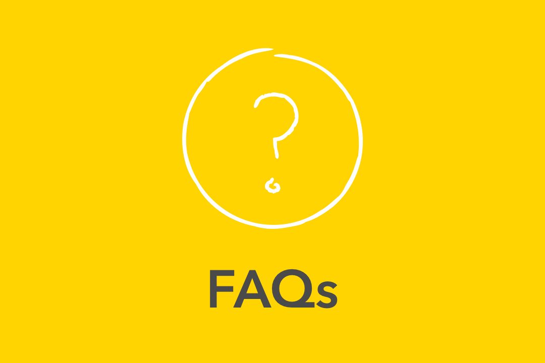 Graphical image of yellow FAQs Icon