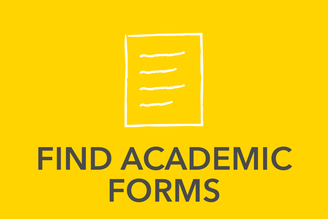 Graphical image of yellow Find Academic forms Icon