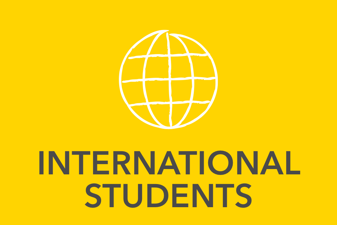 Graphical image of yellow International Students Icon
