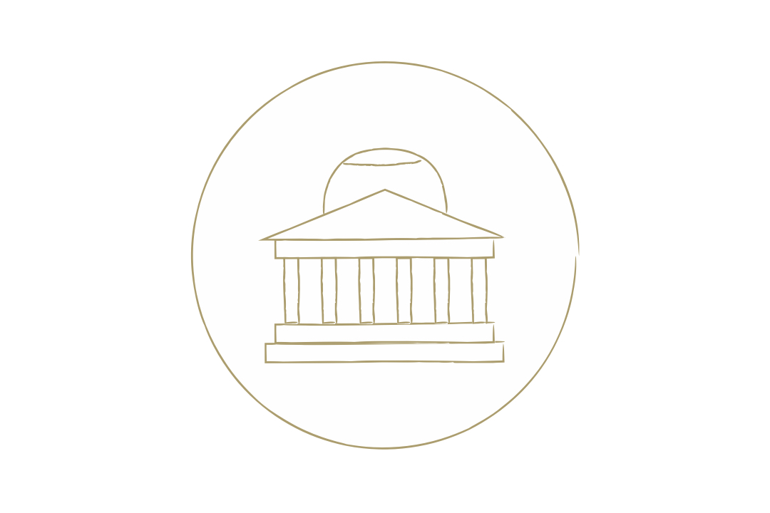 Graphical representation of a of the jefferson memorial