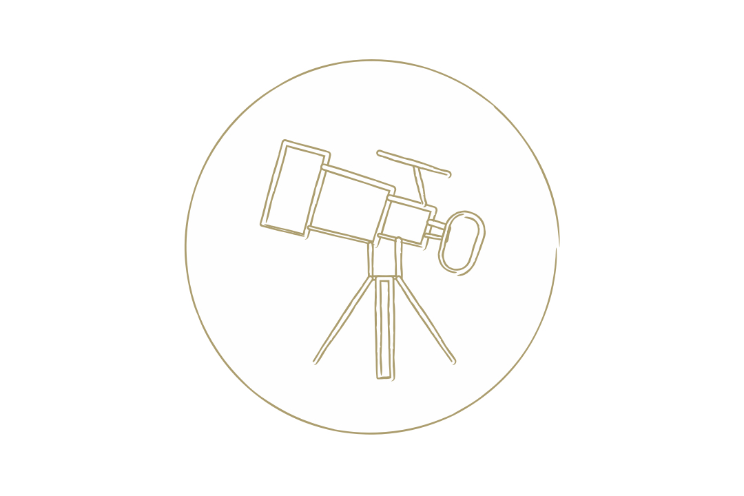 Graphical representation of a telescope