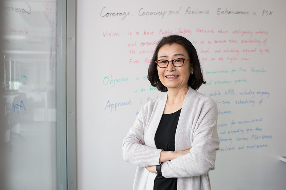 Dr. Choi in her lab