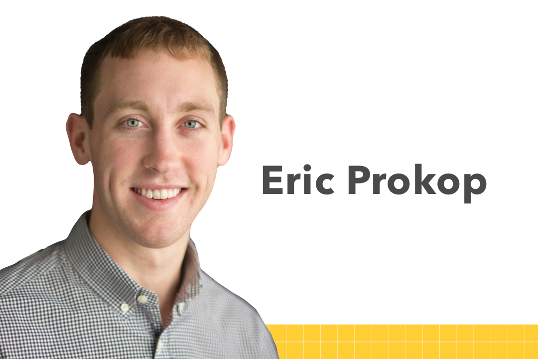 Eric Prokop photo, links to the student biography