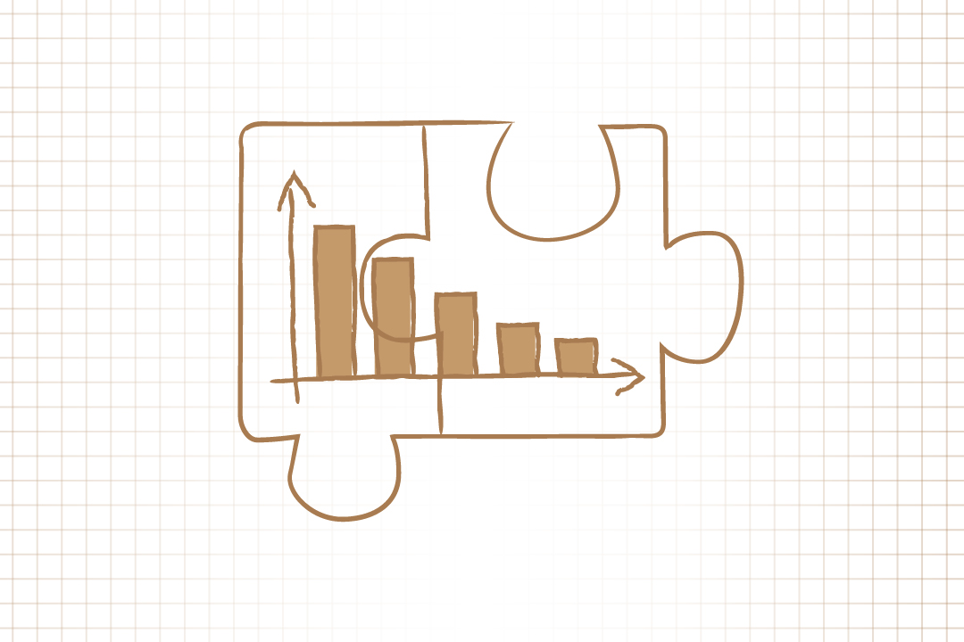 GW pinpoint; Graphic image of a bar graph