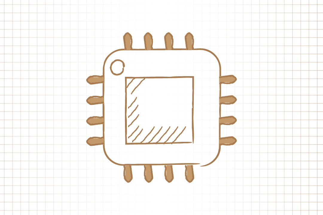 GW pinpoint; Graphic Image of a computer chip