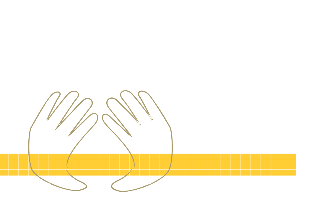 Graphical Image of hands; Diversity & Inclusion