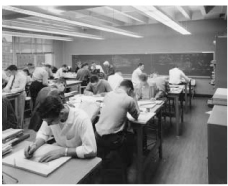 Photo of engineering students in the 60's