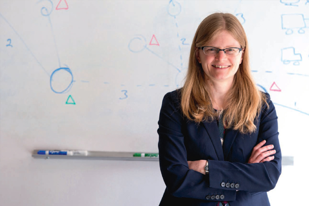 Professor Erica Grala in her lab