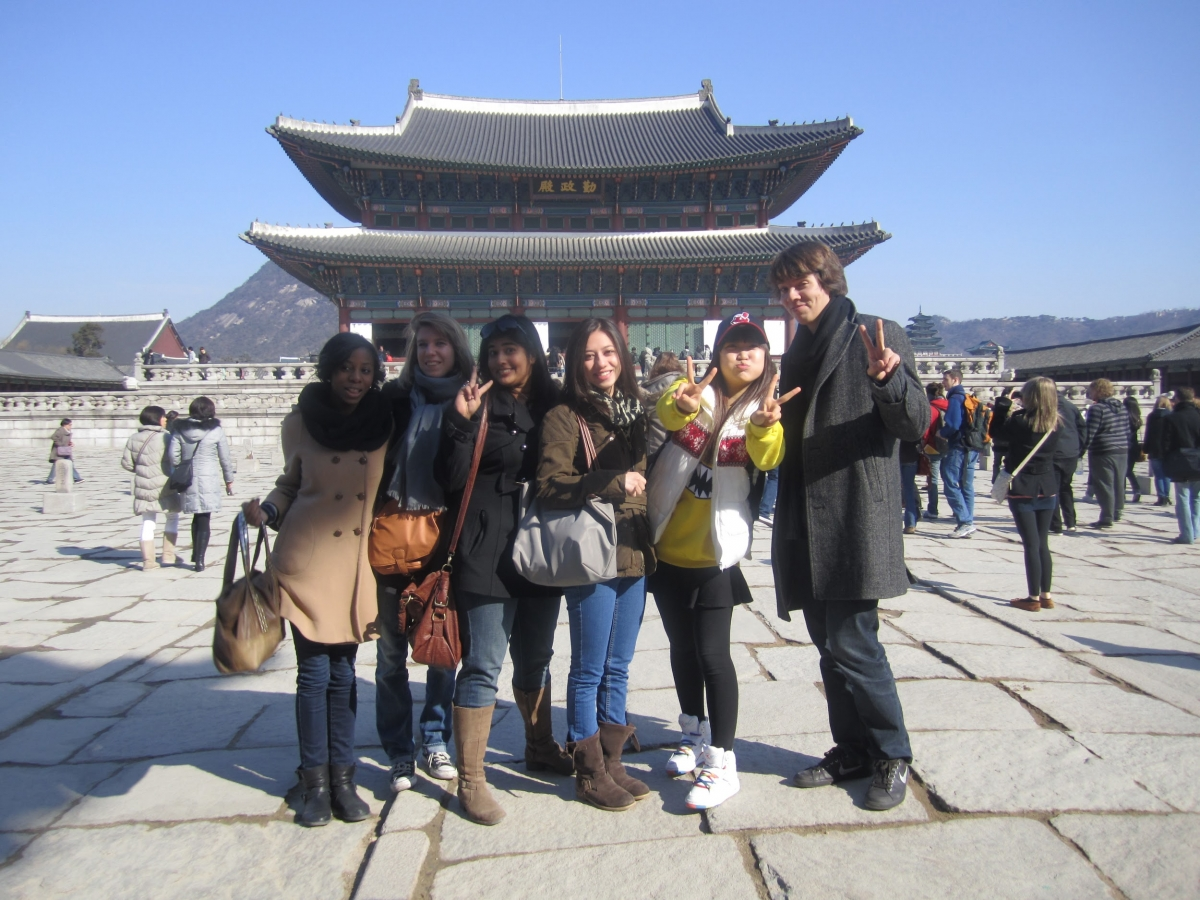 Photo of Study abroad students in South Korea