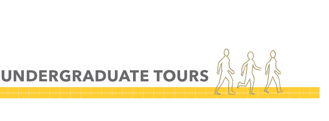 GW Pinpoint; Graphical image of People walking; Undergraduate Tours