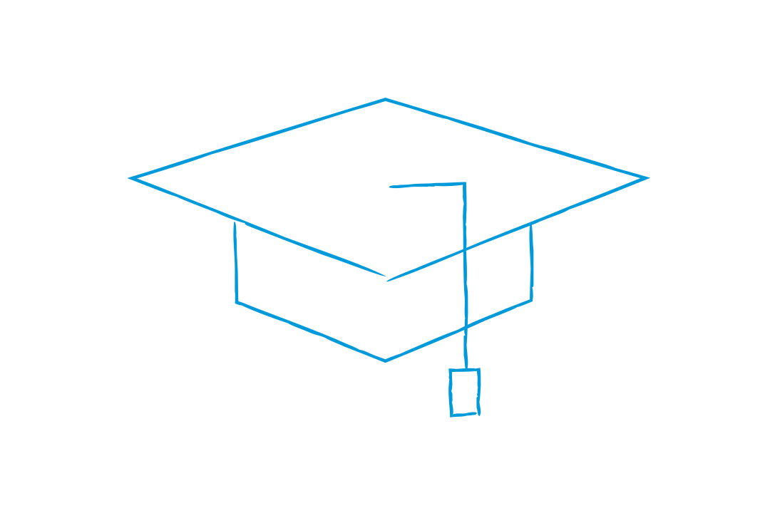 GW Pinpoint; graphical image of a graduate hat and tassels; Clark Engineering Scholars