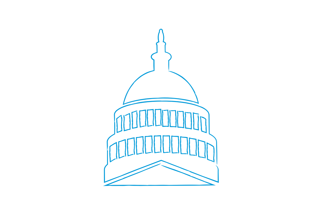 GW Pinpoint; graphical image of the united states capitol; Washington DC