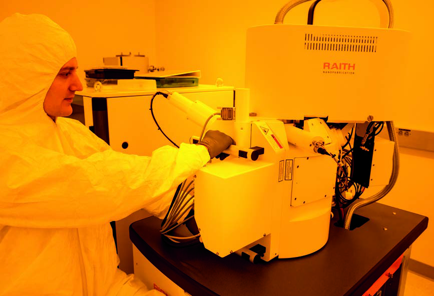 Professor Sorger in his nanotechnology lab