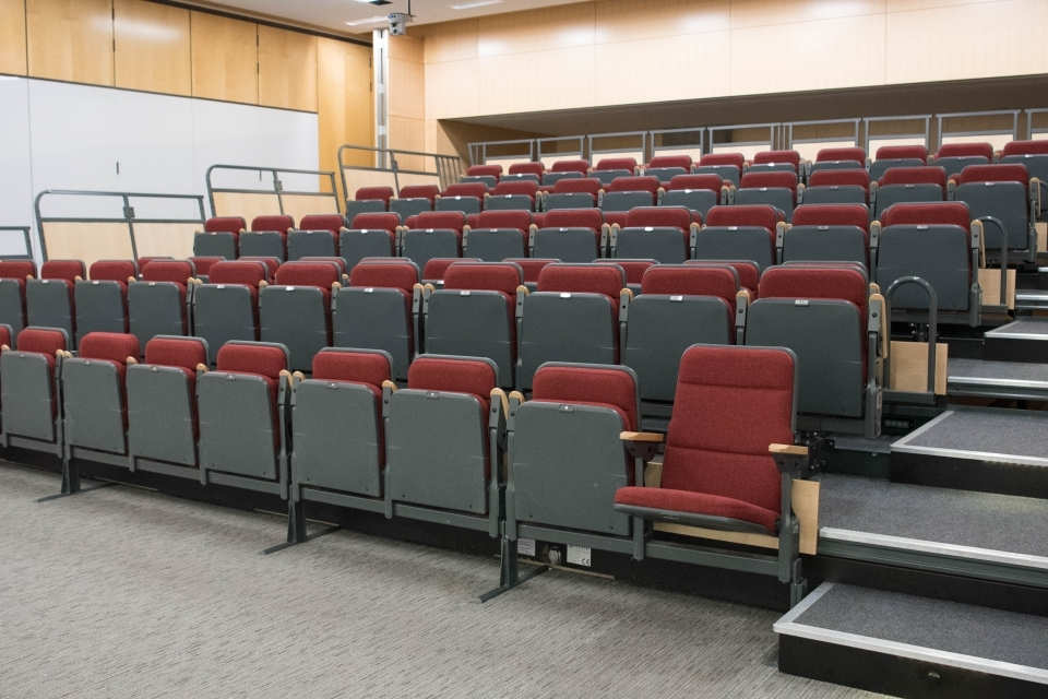 rows of chairs in lehman auditorium